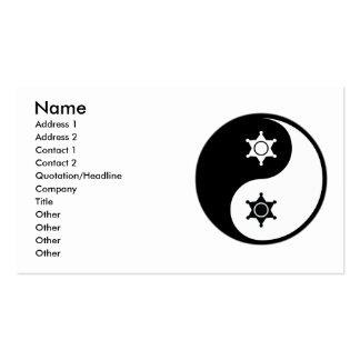 Yin Yang Police Work Business Card