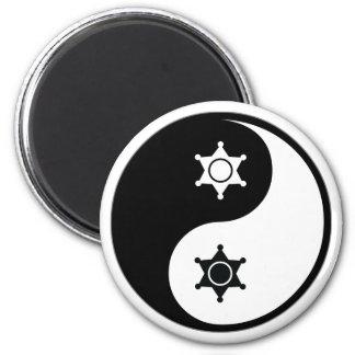 Yin Yang Police Work Magnet