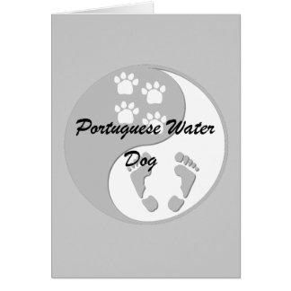 yin yang Portuguese Water Dog Card