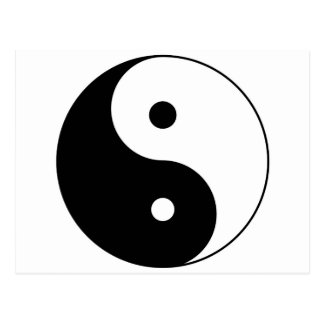 yin yang postcard
