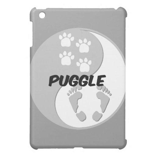 yin yang puggle iPad mini case