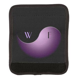 yin yang - púrpura funda para asa de maleta