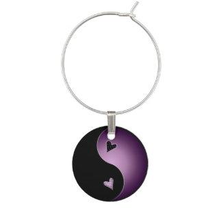 yin yang - púrpura identificador de copa