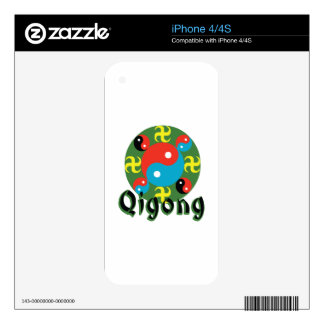 Yin Yang Qigong Decals For The iPhone 4