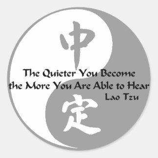 Yin Yang - Quiet Classic Round Sticker