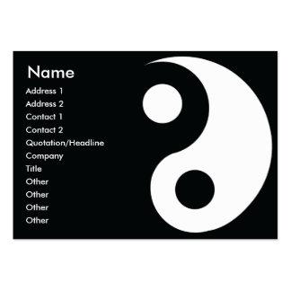 Yin Yang - rechoncho Tarjetas De Visita Grandes