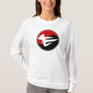 Yin Yang Red Karate GIRL 1 T-Shirt