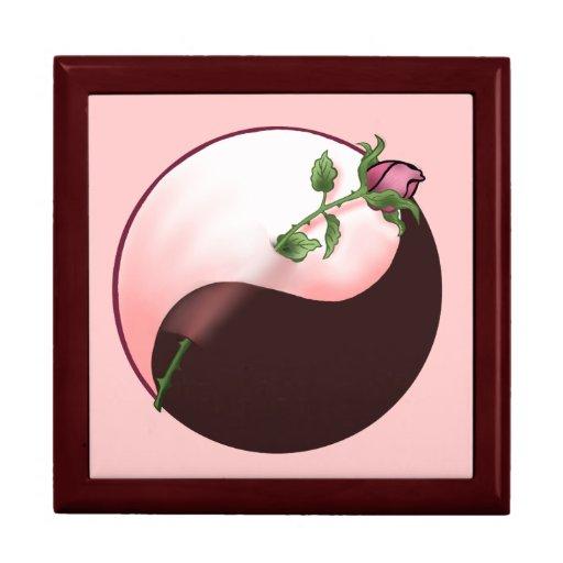 Yin Yang Red Rose Jewelry Box