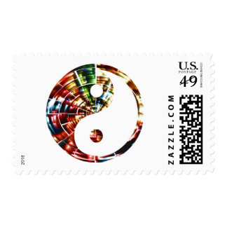 Yin Yang - Red Sparkle Design Stamps