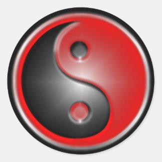 yin-yang-red stickers