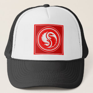 Yin Yang Red Year of the Dragon Trucker Hat