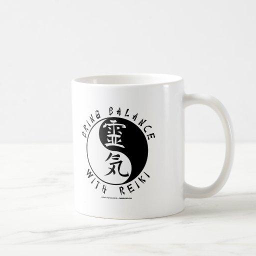 Yin Yang Reiki Kanji Classic White Coffee Mug