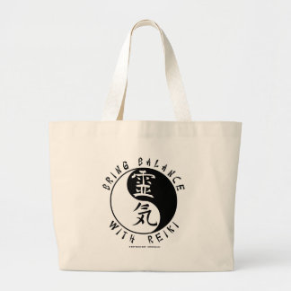 Yin Yang Reiki Kanji Jumbo Tote Bag
