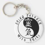 Yin Yang Reiki Kanji Keychain