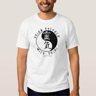 Yin Yang Reiki Kanji T Shirt