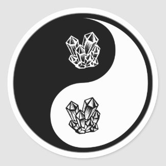 Yin Yang Rockhounding Classic Round Sticker