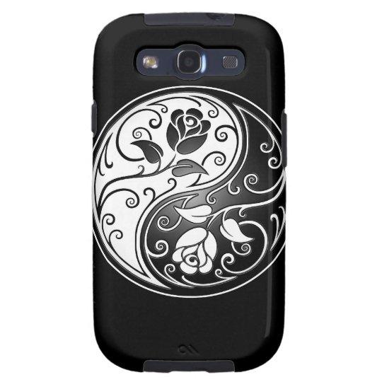 Yin Yang Roses, black Samsung Galaxy S3 Case