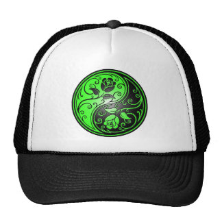 Yin Yang Roses, green and black Trucker Hat