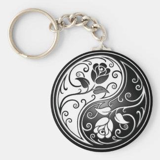 Yin Yang Roses Keychain