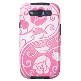 Yin Yang Roses, pink Samsung Galaxy SIII Case