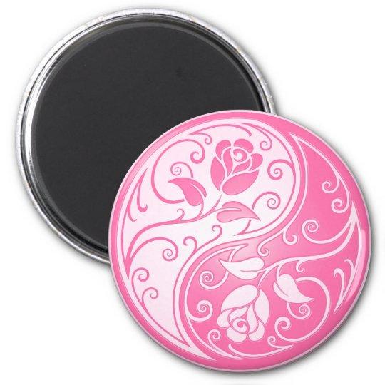 Yin Yang Roses, pink Magnet