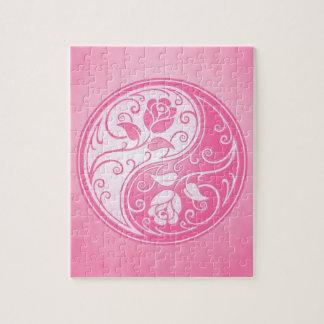 Yin Yang Roses, pink Puzzle
