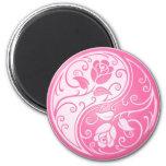Yin Yang Roses, pink Refrigerator Magnet