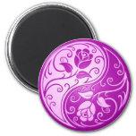 Yin Yang Roses, purple Refrigerator Magnets