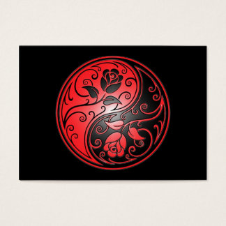 Yin Yang Roses, red and black Business Card