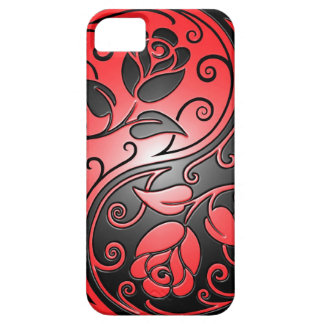 Yin Yang Roses, red and black iPhone 5 Covers