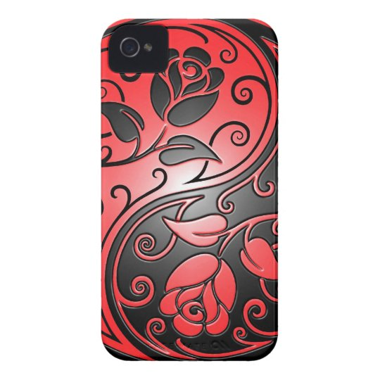 Yin Yang Roses, red and black Case-Mate iPhone 4 Case