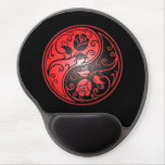 Yin Yang Roses, red and black Gel Mouse Pad
