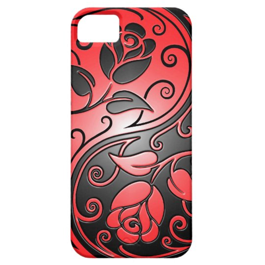 Yin Yang Roses, red and black iPhone SE/5/5s Case