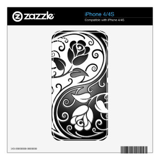 Yin Yang Roses Skin For iPhone 4S