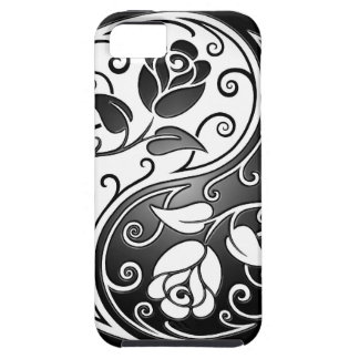 Yin Yang Roses, tight iPhone 5 Cases