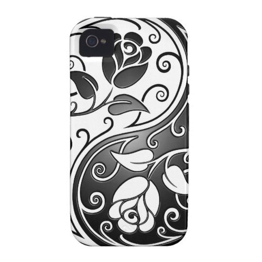 Yin Yang Roses, tight Case-Mate iPhone 4 Case