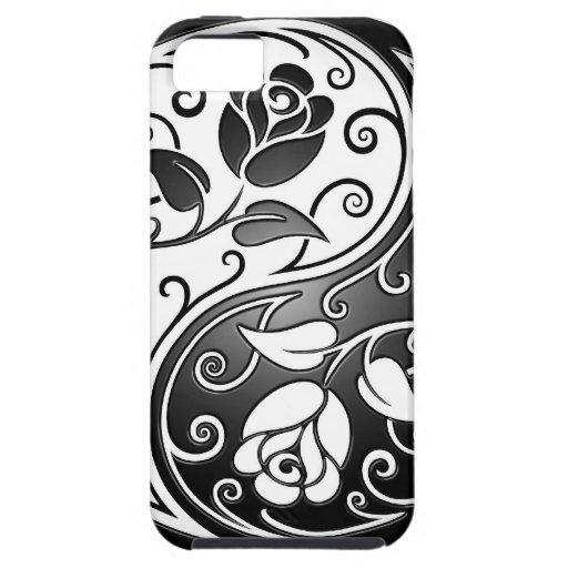 Yin Yang Roses, tight iPhone SE/5/5s Case