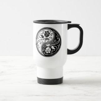 Yin Yang Roses Travel Mug