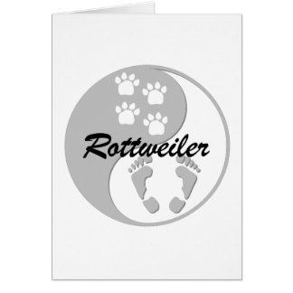 yin yang rottweiler greeting cards