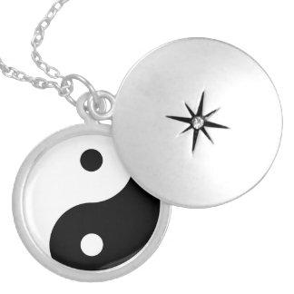 Yin Yang Round Locket Necklace