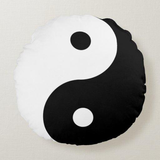Yin-Yang Round Pillow