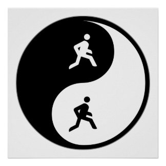 Yin Yang Running Print