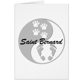 yin yang saint bernard greeting cards
