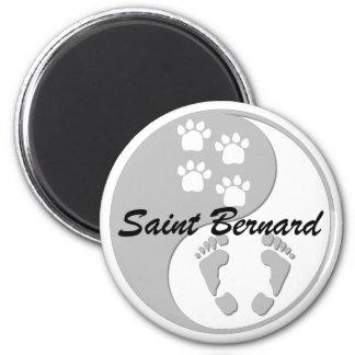 yin yang saint bernard magnets