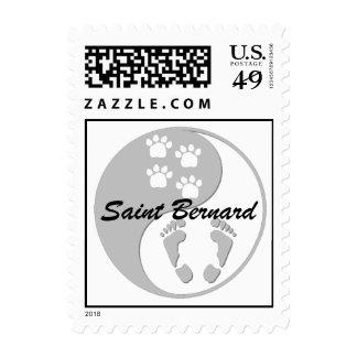 yin yang saint bernard postage stamps