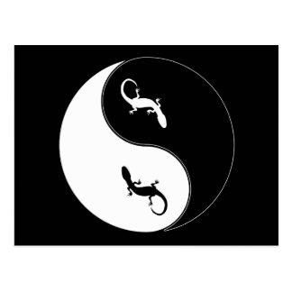 Yin Yang Salamander Postcard