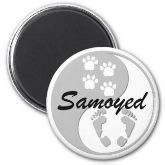 yin yang samoyed magnet