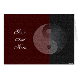 Yin Yang Sandstone Card
