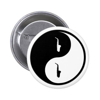 Yin Yang Saxophone Pins