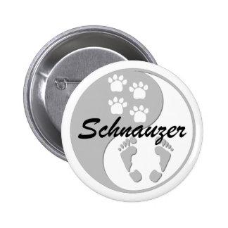 yin yang schnauzer button